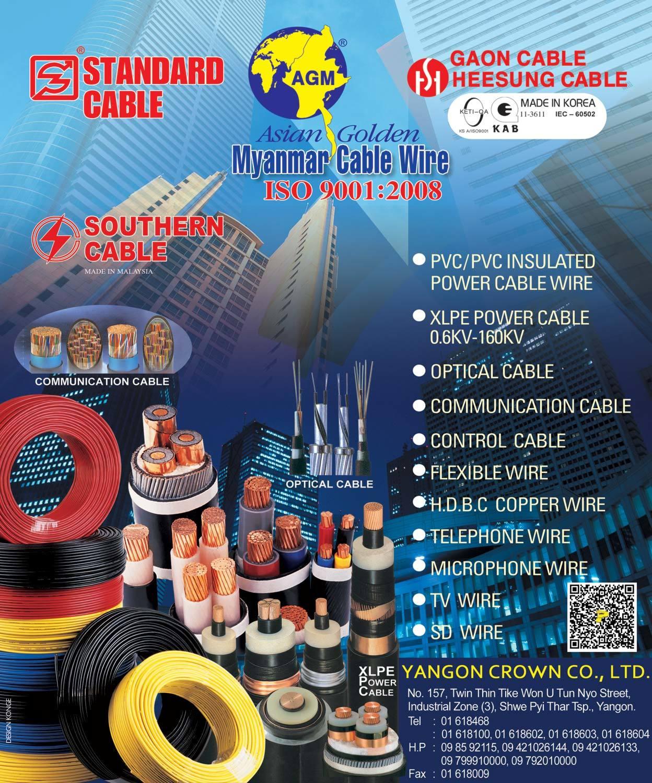 Yangon Crown Co., Ltd. - Cables & Wires [Manu/Dist]