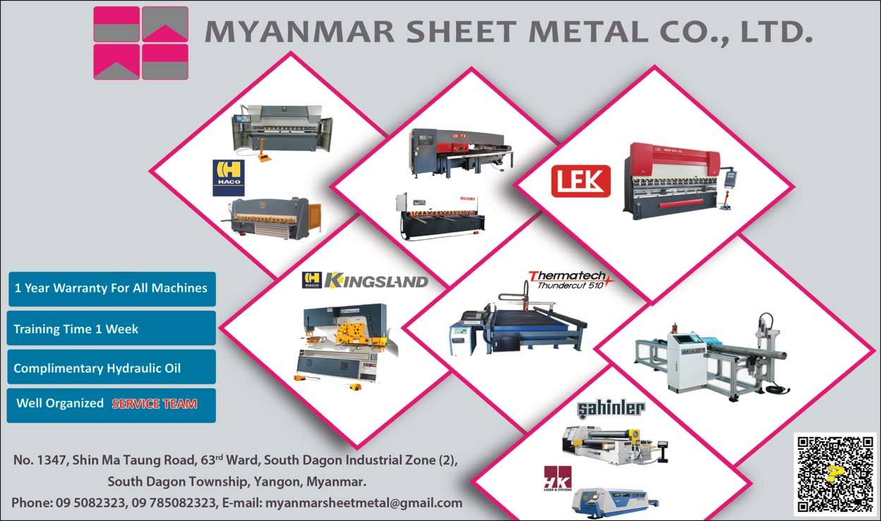 Myanmar Sheet Metal Co , Ltd  - Machinery & Spare Parts Dealers