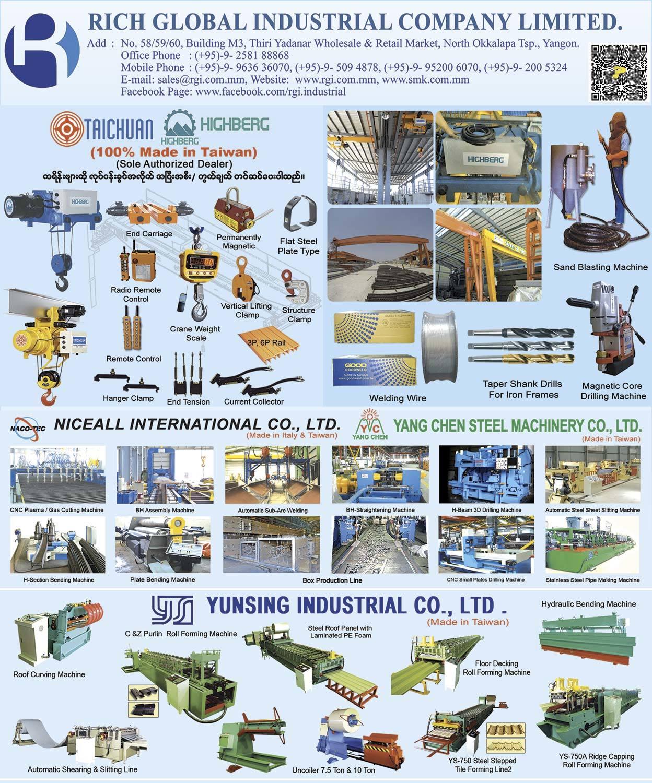 Rich Global Industrial Co , Ltd  - Export & Import Companies